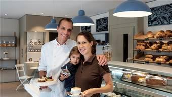 Jürg und Nadin Kaufmann präsentieren zusammen mit Tochter Lynn ihre Patisserie und Kaffeespezialitäten.Mario Heller