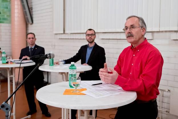 Podiumsgespräch mit Stefan Hug und Carlo Rüsics. Moderiert hat sz-Redaktor Christof Ramser.