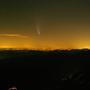 Auf dem Jungfraujoch war der Komet gut sichtbar.