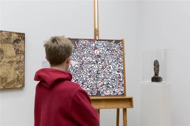 «Déterminations incentaines» gehört zu den typischen Spätwerken von Jean Dubuffet und ist eine hervorragende Ergänzung zu dessen Frühwerken im Kunstmuseum.