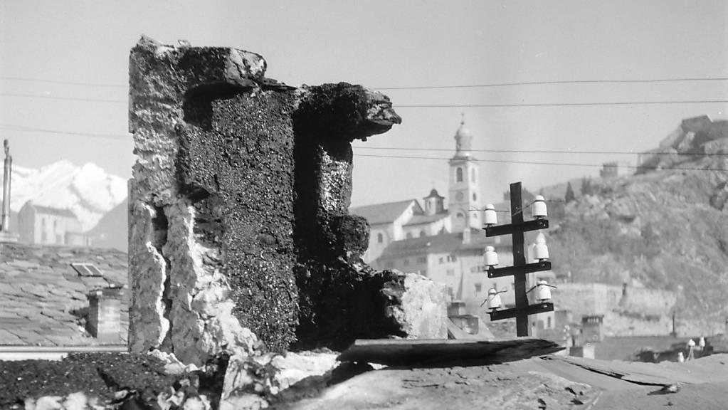 Ein Erdbeben in der Grössenordnung von jenem im Kanton Wallis im Jahr 1946 würde heute Milliardenschäden verursachen. Der Bund will sich für ein solches Ereignis wappnen. (Archivbild)