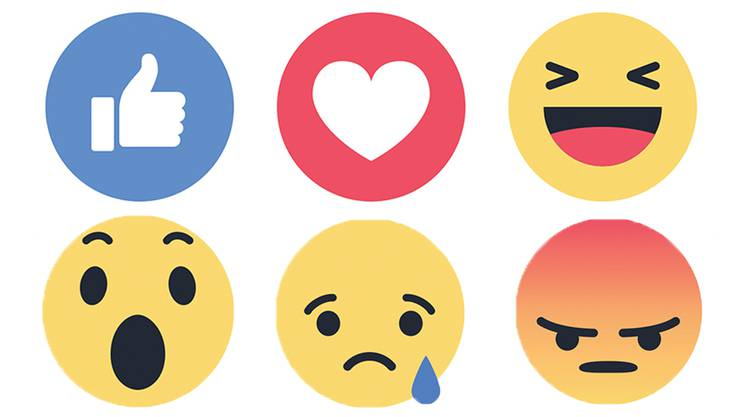 Mit diesen Symbolen kann man auf Facebook Gefühle ausdrücken. Aargauer Schüler äusserten nach einem Suizid nicht nur Betroffenheit.