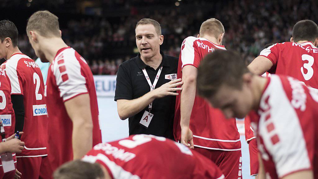 Nationaltrainer Michael Suter während des der EM-Qualifikationsspiels der Schweiz gegen Deutschland