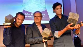 Die drei Gewinner der AZ Aargauer Zeitung, v.l. Chris Iseli, Jörg Meier und Mario Fuchs