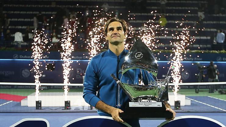 Anfang März feierte Federer in Dubai seinen 100. Turniersieg.