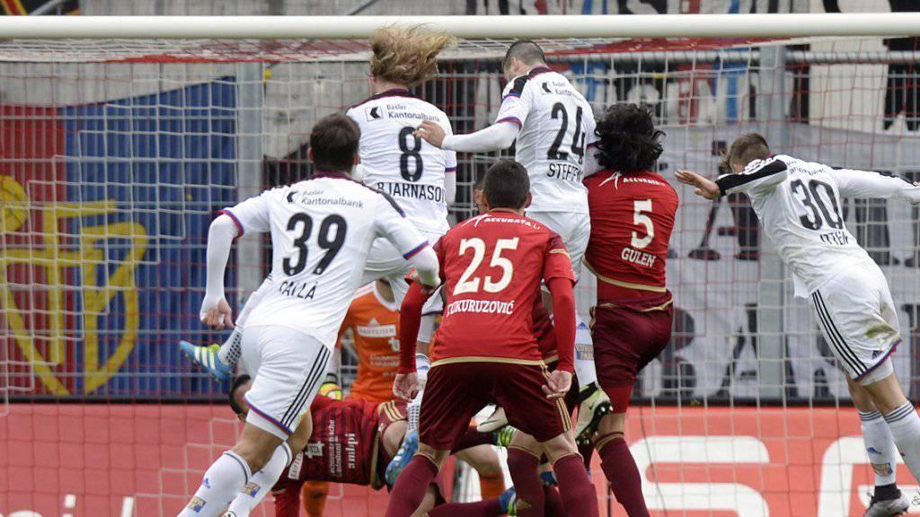 Endeten in den allermeisten Fällen mit einem Sieg des Favoriten: Spiele zwischen Basel (in weiss) und Vaduz