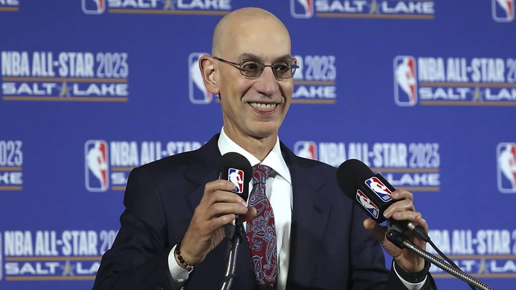 Commissioner Adam Silver plant die Wiederaufnahme des NBA-Spielbetriebes für den 31. Juli