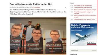 Der Artikel über Eric Nussbaumer wird bereits rege kommentiert.