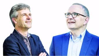 Daniel Siegenthaler (54, SP), bisher Aarauer Einwohnerrat und Hanspeter Hilfiker (52, FDP), bisher Stadtrat.