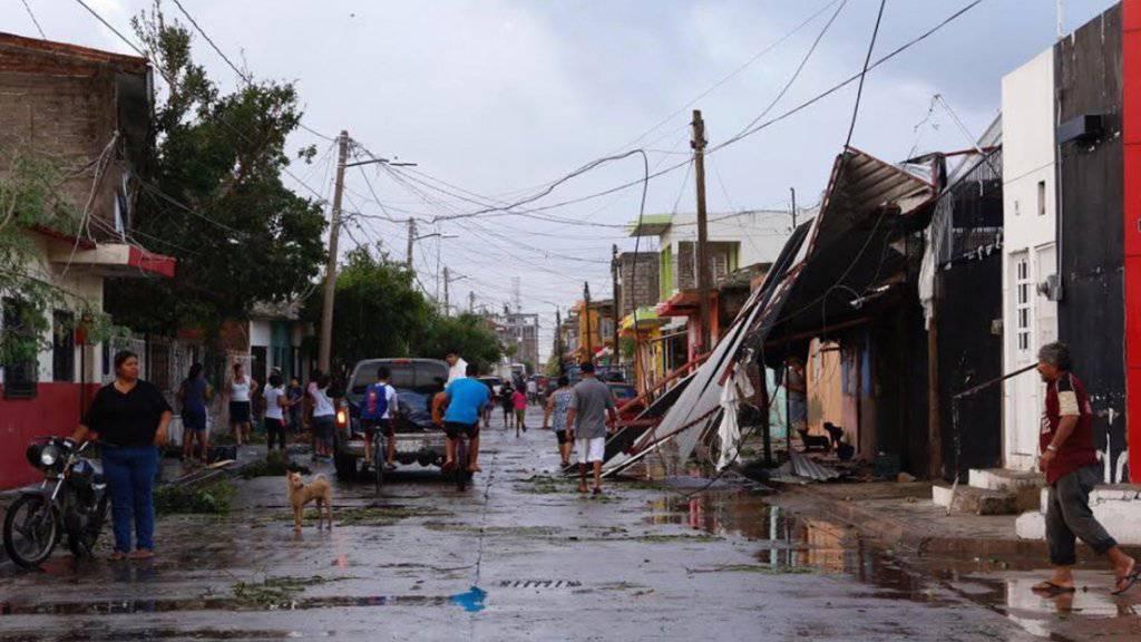 """Hurrikan """"Willa"""" hat am Mittwoch in Mexiko - trotz geringerer Windgeschwindigkeiten - schwere Schäden angerichtet."""