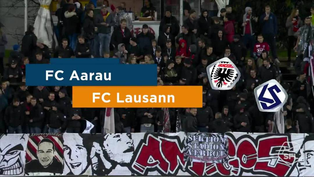 Challenge League 2019/20, 11. Runde:  FC Aarau - FC Lausanne-Sport