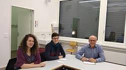 Rebecca Rutschi, Alexis Strähl und Ruedi Gugger aus Trimbach (v.l.n.r.)