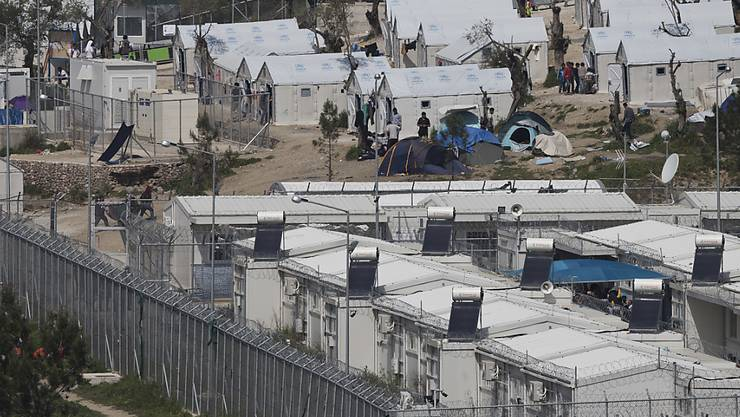 Das hoffnungslos überfüllte Flüchtlingslager Moria auf der griechischen Insel Lesbos. (Archiv)