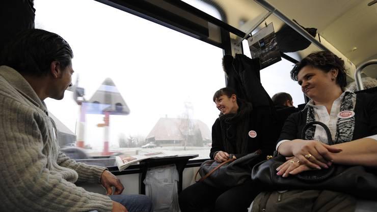 Mitglieder der Angestellten- und Betriebskommission fahren nach Bern