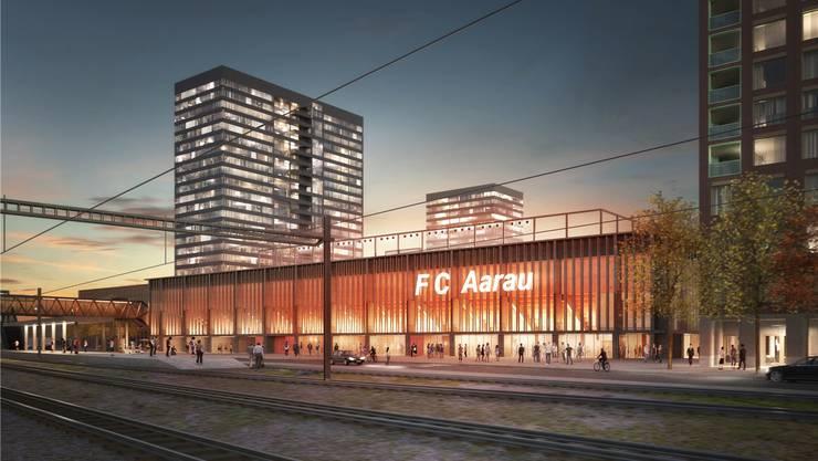 Am Stadion-Projekt mit den vier Hochhäusern scheiden sich nach wie vor die Geister.