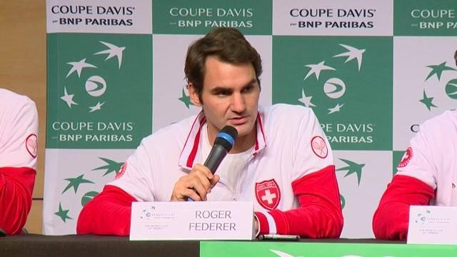 Tennisstar Roger Federer tritt beim Davis Cup an