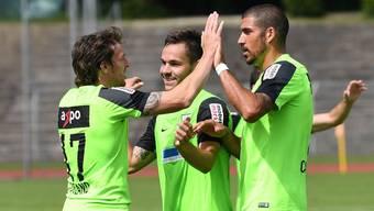 Impressionen vom 4:0-Testspielsieg des FC Aarau gegen die Stuttgarter Kickers