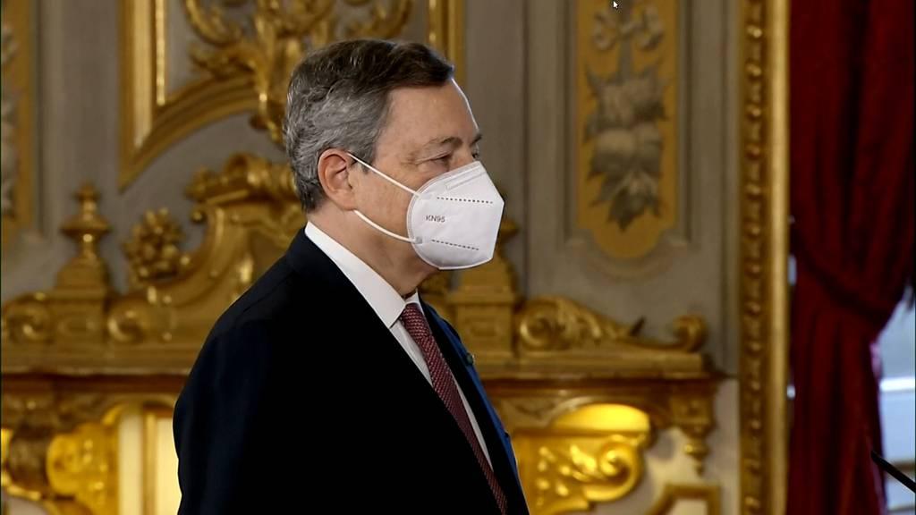 Italien: Mario Draghi wird als neuer Regierungschef vereidigt
