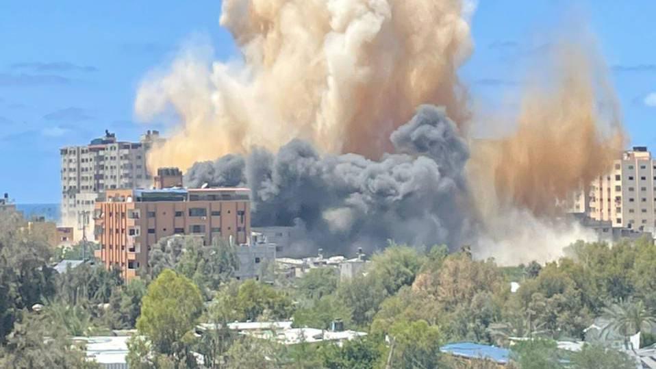 Im Zentrum von Gaza wurden viele Ziele getroffen.