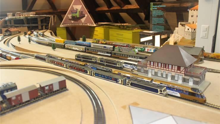 Die Züge rollten während zweier Wochen im Grenchner Museum.