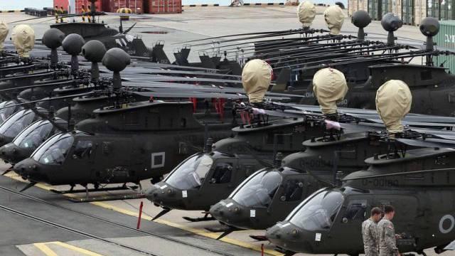 US-Kampfhelikopter im südkoreanischen Hafen Busan