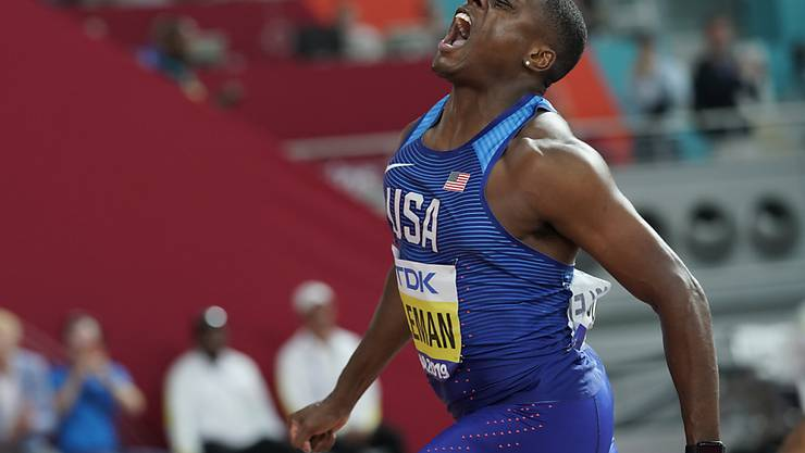 Christian Coleman holte im September 2019 in Doha WM-Gold