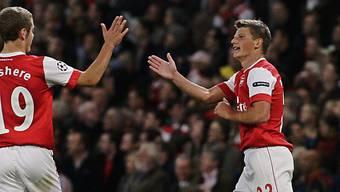 Arschawin (rechts) erzielte für Arsenal den Ausgleichstreffer