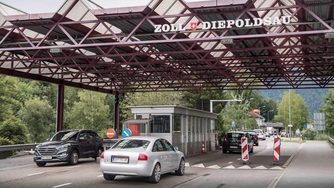Grenzübergang zu Österreich in Diepoldsau (SG)