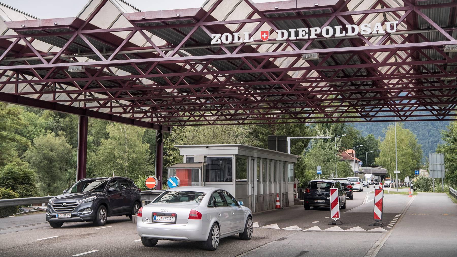 Grenzübergang zu Österreich in Diepoldsau
