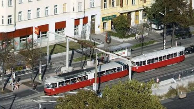 Tram in Wien: Die Fahrt des Tram-Diebs dauerte bloss zwei Stationen. (Symbolbild)