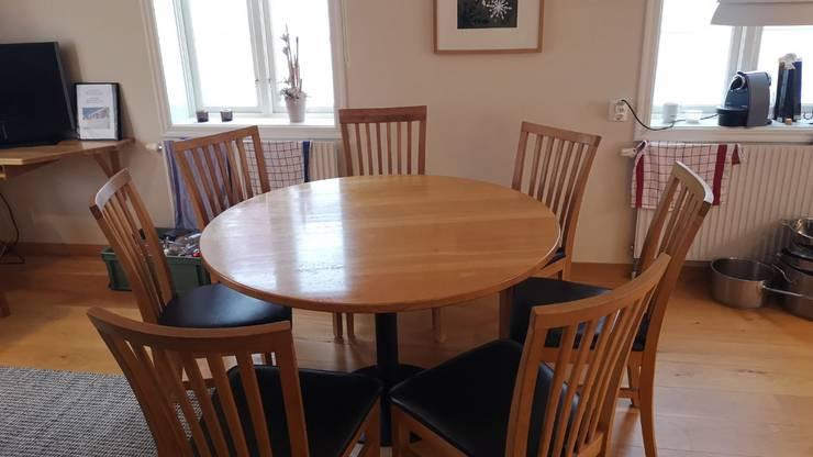 An diesem Tisch essen die Schweizer Skistars zu Mittag und zu Abend