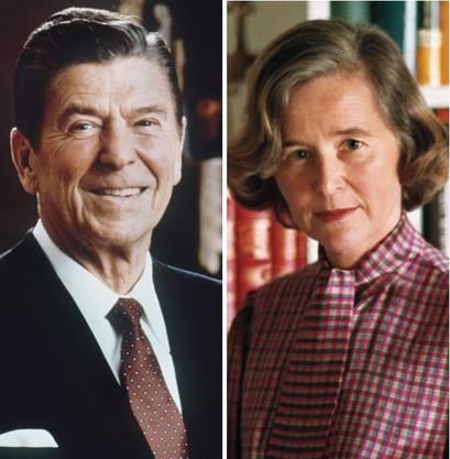 Präsident Ronald Reagan traf Elisabeth Kopp 1987.