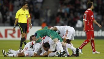 Die Schweizer U21-Nati im EM-Final gegen Spanien