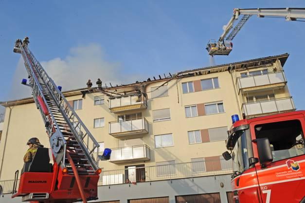 Die Feuerwehr leistet einen Grosseinsatz