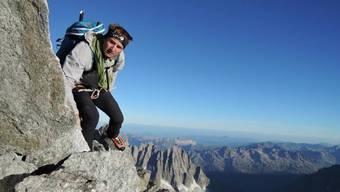 Alpinist Ueli Steck auf seiner spektakulären Viertausender-Tour.