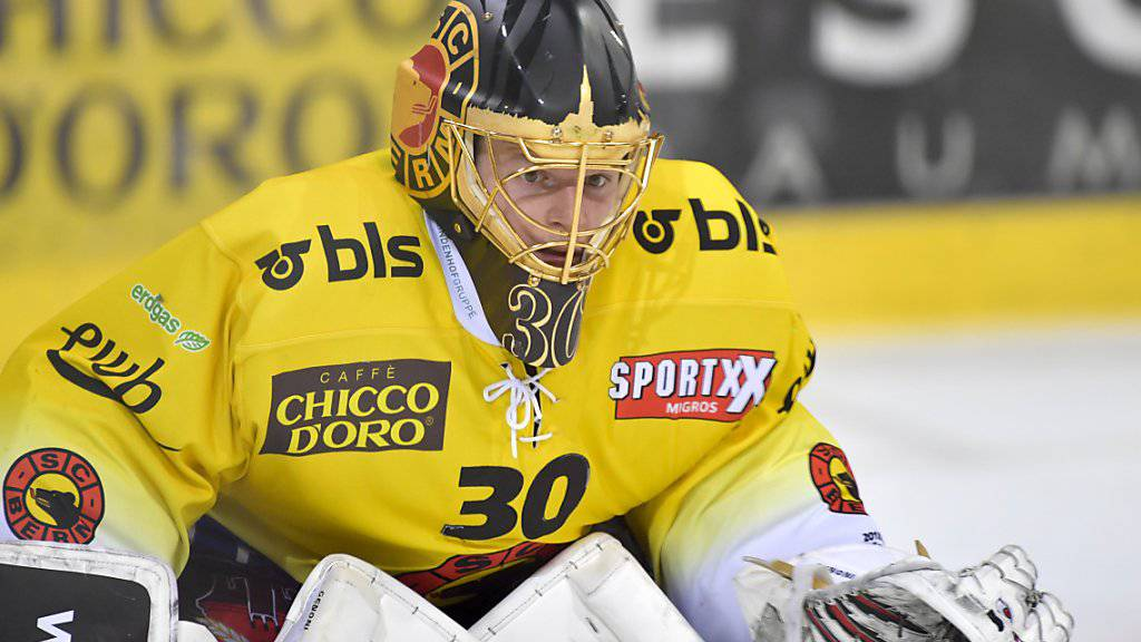 SCB-Goalie Leonardo Genoni feierte in Davos bereits den achten Shutout in dieser Saison