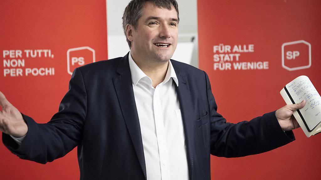 SP-Präsident Christian Levrat blickt am Dreikönigsapéro zuversichtlich auf das Wahljahr.