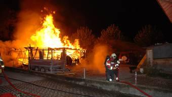 Am 14. September brannte in Gerlafingen ein Geräteunterstand.