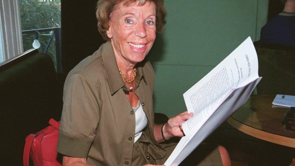 Wurde 96 Jahre alt: Die französische Autorin Benoîte Groult. (Archivbild)