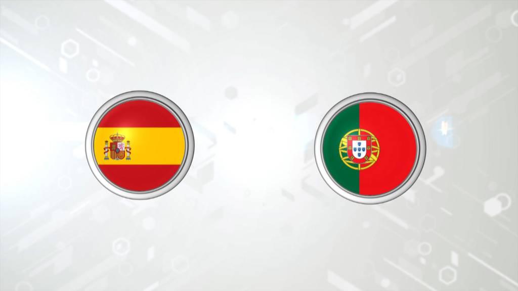 UEFA Länderspiel Spanien - Portugal