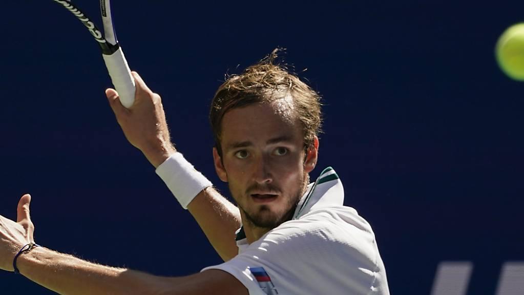 Daniil Medwedew steht zum dritten Mal in Folge im Halbfinal des US Open.