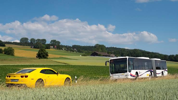 Die neuen Postautos im Tarifverbund A-Welle sollen wieder gelb statt weiss gespritzt sein.Alex Spichale