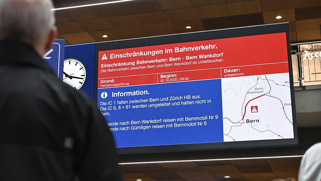 SBB wollen Reisende bei Störungen besser und schneller informieren