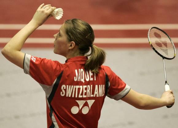 Badminton: Sabrina Jaquet (im Bild, Biel, Frauen Einzel), Céline Burkart (Bern, Mixed-Doppel), Christian Kirchmayr (Therwil, Männer Einzel), Oliver Schaller (Schmitten FR, Mixed-Doppel).