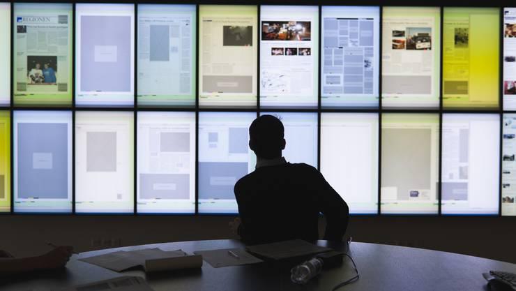 Newsroom der AZ Medien in Aarau: Journalismus und Medienhäuser stehen vor grossen Herausforderungen.