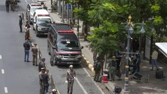 In Bangkok ist es während eines Treffens der Aussenminister der Asean-Staaten zu mehreren kleineren Explosionen gekommen.