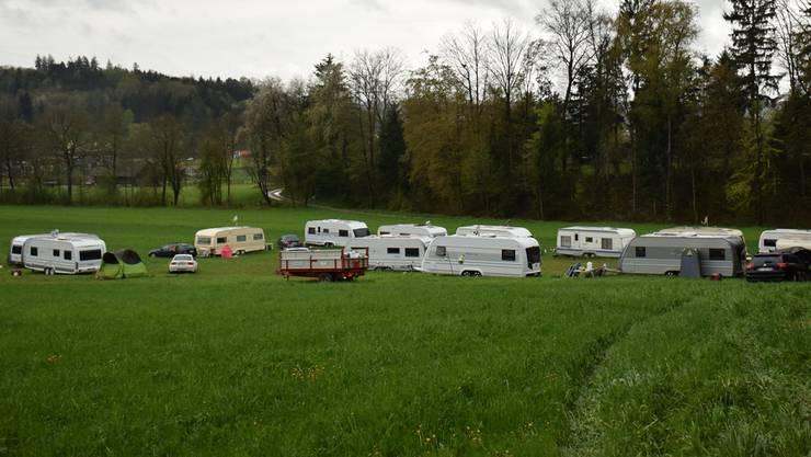Rund ein Dutzend Wohnwagen weilen aktuell in Walterswil