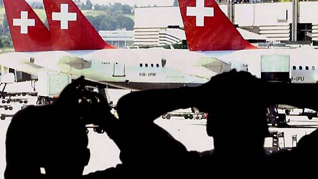 Am Flughafen Kloten im Jahre 2000