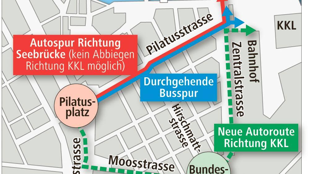 Bahnhof Luzern: Zufahrt neu geregelt