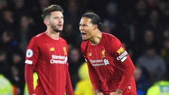 Für einmal unzufriedene Spieler von Liverpool: Virgil van Dijk (rechts) und Andrew Robertson während dem Spiel in Watford